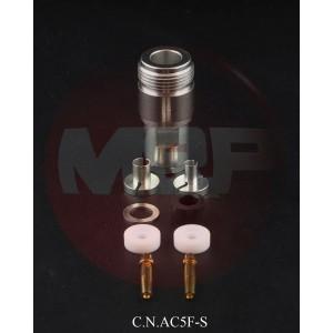 C.N.AC5F-S Connettore N femmina a saldare