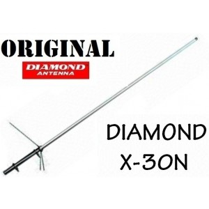 DIAMOND X30N - ANTENNA BIBANDA VHF UHF DA BASE - ATTACCON N